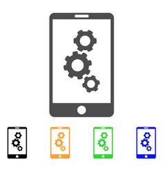Smartphone gears icon vector
