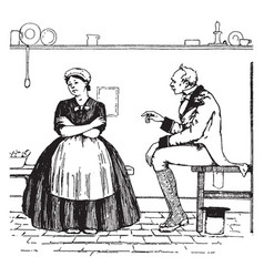 Widow machree vintage vector