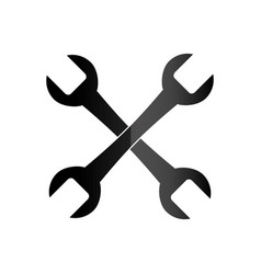 wrench key tool icon vector image