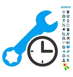 Service time flat icon with bonus vector