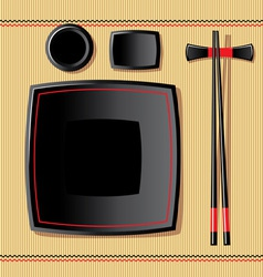 Japanese tableware vector