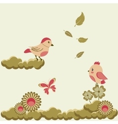 Funky stylized floral background vector image