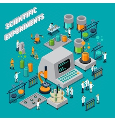 Scientific Experiments Isometric Composition vector image