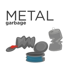 metal waste vector image
