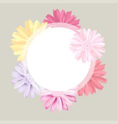 Romantic vintage floral bouquet flourish card vector