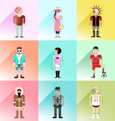 people avatar set 3 vector image