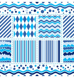 Seamless white-blue pattern vector