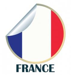 France sticker vector image