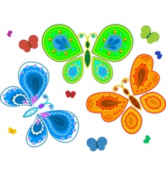 Decorative butterflies vector