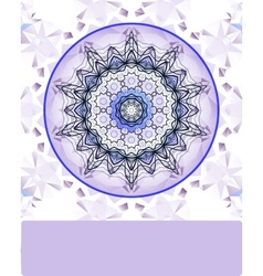 Violet vintage pattern hand drawn abstract vector