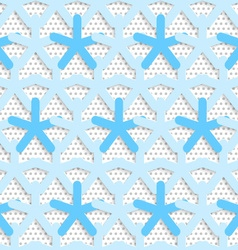 Blue 3d net on textured white and gray pattern vector