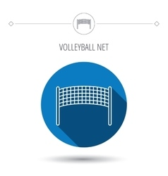 Volleyball net icon beach sport game sign vector
