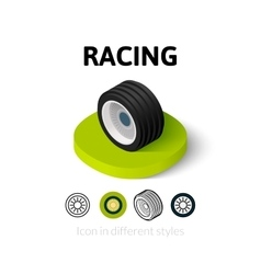 Racing icon in different style vector