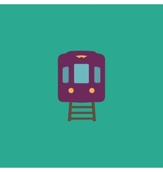 Train flat icon vector