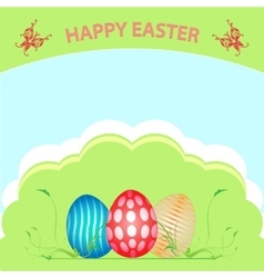 Postcard easter happy vector