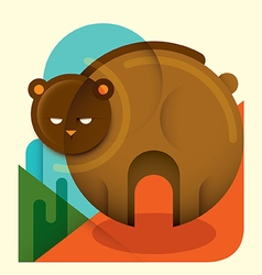 Geometric bear vector