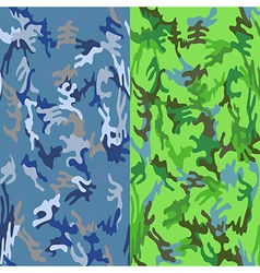 Camouflage seamless sea water tropic spots patter vector