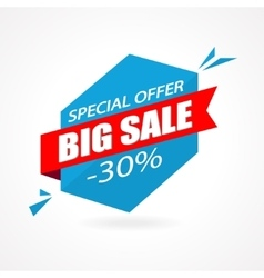 Discount 30 percent off - advertising vector