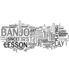 A study in banjo lessons text word cloud concept vector