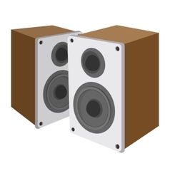 Acoustic speakers cartoon icon vector image vector image