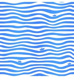Blue stripes wavy simple background with little vector image