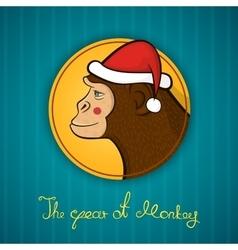 Bright holiday card New year vector image vector image