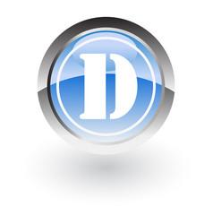 Circle lettre d icon logo vector