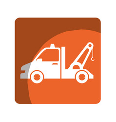 Crane service isolated icon vector