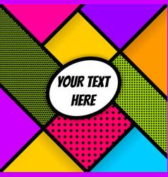 geometric pop art advertise background vector image vector image