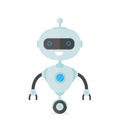 Happy smiling robot chat bot vector