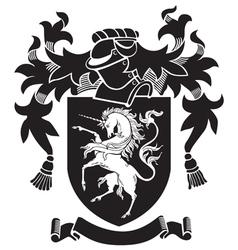 heraldic silhouette No34 vector image