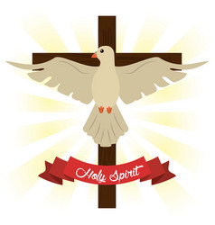 Holy spirit cross concept image vector