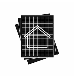 House blueprint icon simple style vector