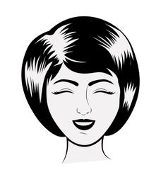 Isolated retro woman design vector