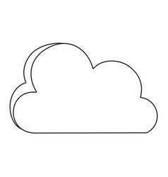 line nice cloud nature weather icon vector image