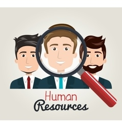 men cartoon human resources search find vector image