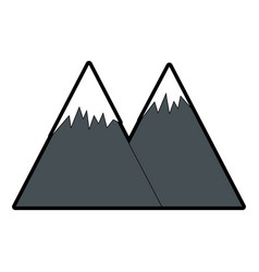Mountains landscape image vector