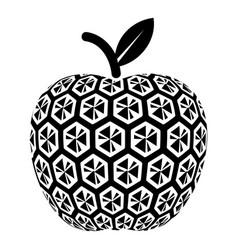 Nano apple icon simple black style vector