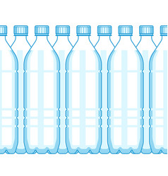 plastic bottle background vector image
