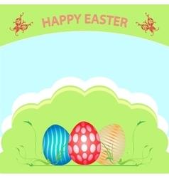 Postcard Easter Happy vector image vector image
