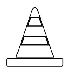 Road cone black color icon vector
