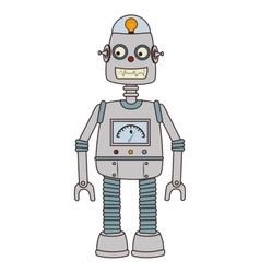 Robot kid toy icon vector image vector image