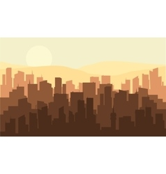 Silhouette of many industrial building vector