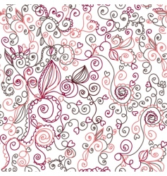 swirls seamless vector image vector image