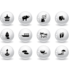 Web buttons thai icons vector image