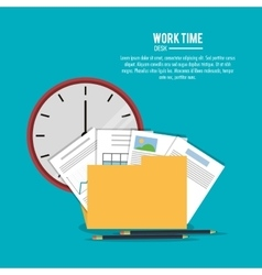 file office work time supply icon vector image