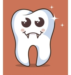 Human tooth character icon vector