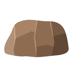 Rock stone icon vector image