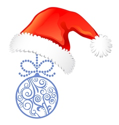 Christmas elements set hat ball vector