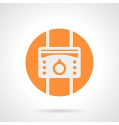 Orange heat regulator round icon vector